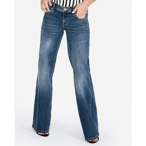 Express Super Wide Mid Rise Jeans